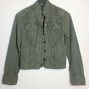 Bb Dakota Utility Style Jacket Olive Green Sz S